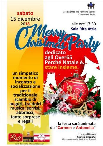 "brolo –  natale: in programma il 15 dicembre merry christmas party ""dedicata agli over65"""